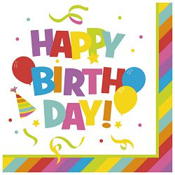 Salvete troslojne 33x33cm pk20 Happy Birthday Herlitz 40011981