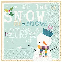 Salvete troslojne 33x33cm pk20 Let it snow Herlitz 40023748