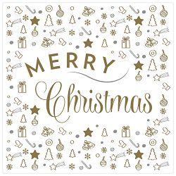 Salvete troslojne 33x33cm pk20 Merry Christmas Herlitz 40003290