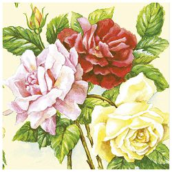 Salvete troslojne 33x33cm pk20 Rose garden Herlitz 11095304