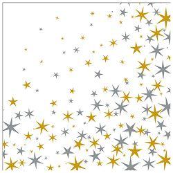 Salvete troslojne 33x33cm pk20 Stardust gold Herlitz 11384013