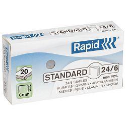 Spajalice strojne br.24/6 pk1000 Standard Rapid 24855600