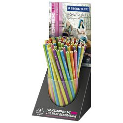 Stalak s olovkama grafitnim Wopex Neon HB pk72 Staedtler 180F KP72
