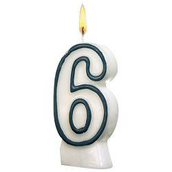 Svijeća rođendanska br.6 Herlitz 11142627 blister