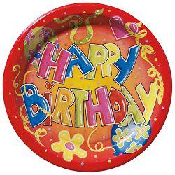 Tanjur plitki fi-23cm pk10 Happy Birthday Herlitz 11161346!!