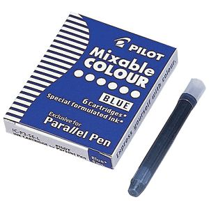 Tinta za nalivpero patrone Parallel pen pk6 Pilot plava