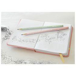 Olovka grafitna B Grip Sparkle pearl Faber Castell 118203 pastelno zelena