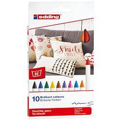 Flomaster za tekstil 1mm 10boja pk10 Edding 4600