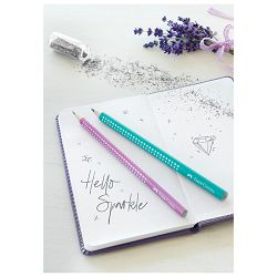 Olovka grafitna B Grip Sparkle pearl Faber Castell 118212 roza