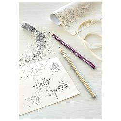 Olovka grafitna B Grip Sparkle pearl Faber Castell 118215 metalik bordo