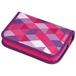 Pernica puna 1zip 2preklopa Pink Cubes Herlitz 50020973