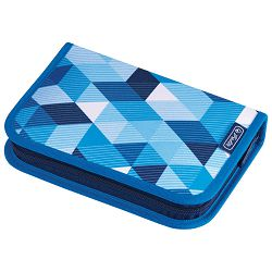 Pernica puna 1zip 2preklopa Blue Cubes Herlitz 50021031