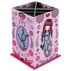 Čaša za olovke karton kvadratna sa postoljem My Gift To You Gorjuss 404GJ05