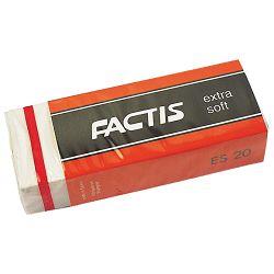 Gumica plastična ES20 extra soft Factis bijela-KOMAD