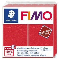 Masa za modeliranje   57g Fimo Effect Leather-effect Staedtler 8010-249 crvena (lubenica)