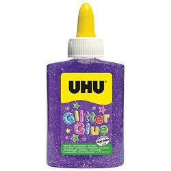 Ljepilo glitter glue 88ml UHU LO181815 ljubičasto