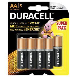 Baterija alkalna 1,5V AA Basic pk5 Duracell LR6 blister