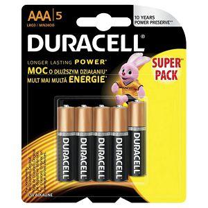 Baterija alkalna 1,5V AAA Basic pk5 Duracell LR03 blister