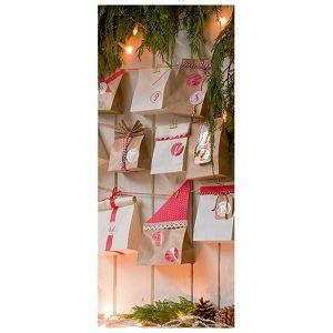 Naljepnice božićne fi-4cm pk4 Merry Xmas Heyda 20-37808 08 blister!!