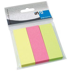 Zastavica 25x75mm 3bojex100L papir Global Notes 5671-39-pk3 sortirano blister