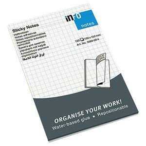 Blok samoljepljiv 100x150mm karo 100L Global Notes 5669-08-K-K bijeli