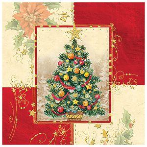 Salvete troslojne 33x33cm pk20 Glamour tree Herlitz 40030180