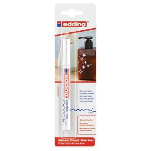 Marker permanentni sjajni lakirajući 1-2mm Edding 751/1 bijeli blister