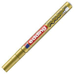Marker permanentni sjajni lakirajući 1-2mm Edding 751 zlatni