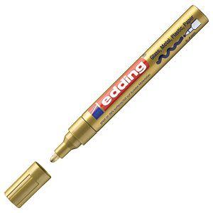 Marker permanentni sjajni lakirajući 2-4mm Edding 750 zlatni