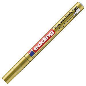 Marker permanentni sjajni lakirajući 0,8mm Edding 780 zlatni