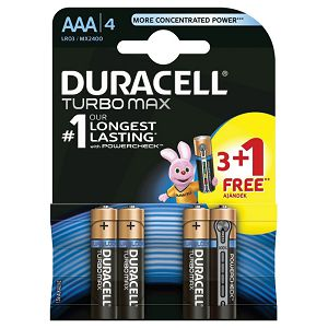 Baterija alkalna 1,5V AAA Turbo 3+1 Duracell LR6 blister!!