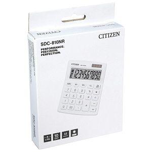 Kalkulator komercijalni 10mjesta Citizen SDC-810NRWHE bijeli blister