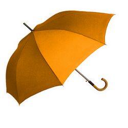 Kišobran drvena drška narančasti