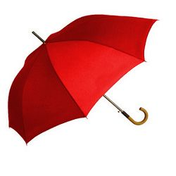 Kišobran drvena drška crveni