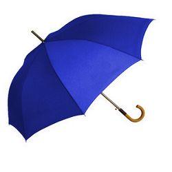 Kišobran drvena drška plavi