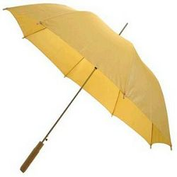 Kišobran drvena ravna drška žuti
