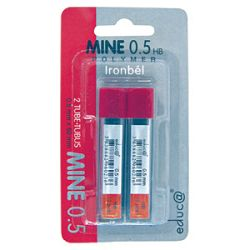 Mine 05mm HB polymer pk2 Educa blister