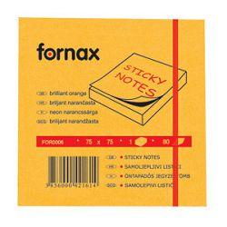 Blok samoljepljiv  75x75mm  80L Fornax neonnarančasti