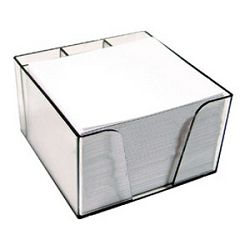 Blok kocka pvc 10x85x6cm s papirom bijelim Elisa