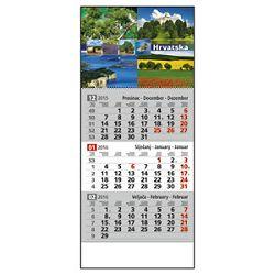 Kalendar zidni trodijelni 2016 sa slikom i spiralom