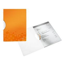 Fascikl klip pp A4 Wow Leitz 4185 narančasti