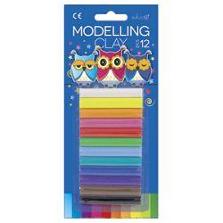 Plastelin 12bojax15g pvc Color Educa blister