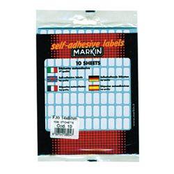 Etikete slep  14x8mm pk10L Markin 10010 blister