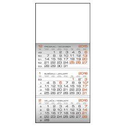 Kalendar zidni trodijelni 20163 bloka