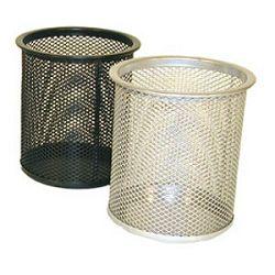 Čaša za olovke metalna žica okrugla fi9xH97cm LD01189 Fornax srebrna