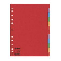 Pregrada kartonska A4 kolor 12listova Economy Esselte 100202