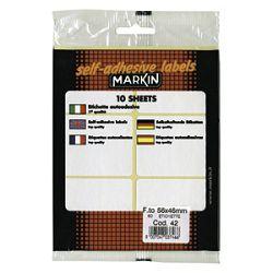 Etikete slep  56x46mm pk10L Markin 10042 blister