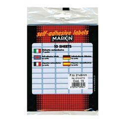 Etikete slep  21x8mm pk10L Markin 10015 blister