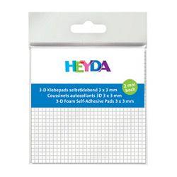 Ljepilo obostranospužva 3x3mm2mm Heyda bijelo blister