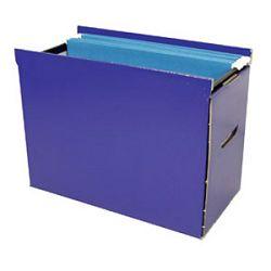 Kutija za viseće mape kartonska Donau 7426 plava